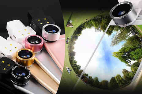 Bazaar me - 198 Degree Fish Eye Lens Four Colours - Save 82%