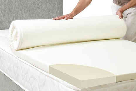 Groundlevel - Luxury Memory Foam Mattress Topper With Cover Four Sizes - Save 79%