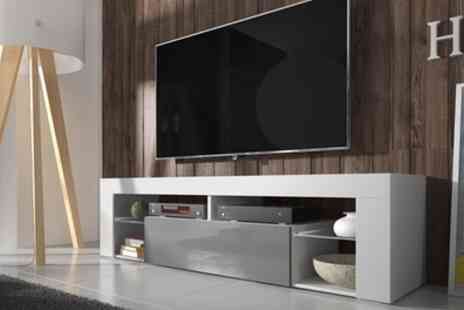 Groupon Goods Global GmbH - Hugo TV Cabinet with or without LED Lighting Include Free Delivery - Save 42%