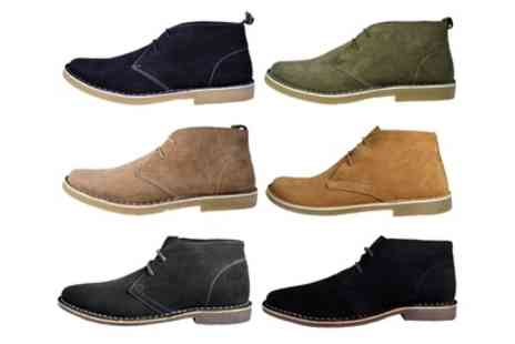 Groupon Goods Global GmbH - Lambretta and Red Tape Mens Suede Leather Desert Boots - Save 64%
