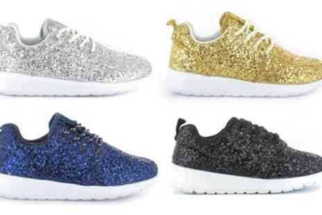 Groupon Goods Global GmbH - Womens Glitter Trainers - Save 0%
