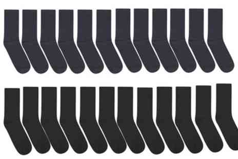 Groupon Goods Global GmbH - 12 or 24 Pack of Mans Plain Socks - Save 0%