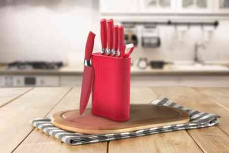 Groupon Goods Global GmbH - Seven Piece Knife Block Set - Save 81%