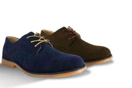 Shoe Station - Pair of classic mens lace up Derby shoes choose from two colours - Save 50%