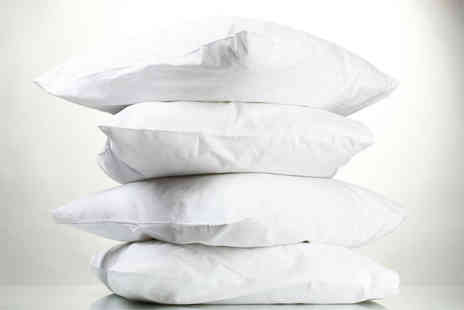 Adam Linens - Four duck feather hotel quality pillows - Save 85%