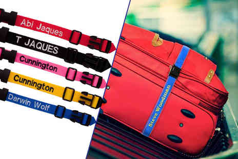 London Exchain Store - Personalised luggage strap with up to six letters - Save 70%