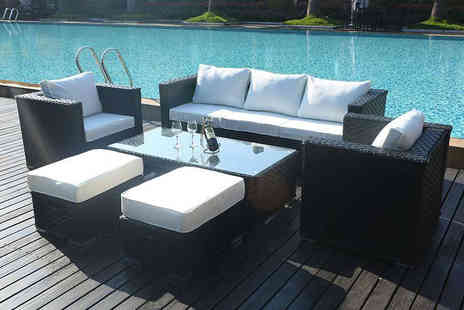 Dreams Living - Rattan garden furniture set set choose from grey, black or brown - Save 49%