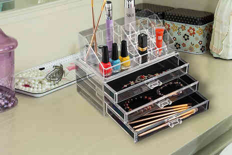 Barrots - Clear Acrylic Make Up Organiser - Save 0%