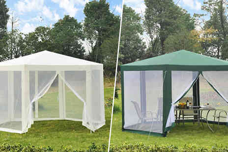 MHStar Uk - Pop Up Netted Gazebo in 2 Colours - Save 0%