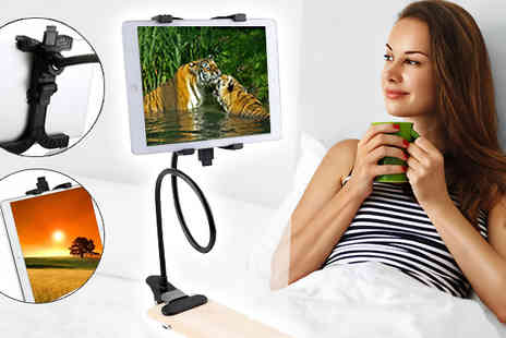 H&C Electronics - Clip On Tablet Holder Use in Bed or at Your Desk - Save 84%