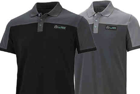 Brand Arena - Mens Mercedes Polo Shirt in 2 Colours - Save 68%