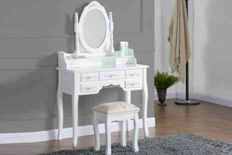 Groupon Goods Global GmbH - Antique-Style Dressing Table Sets With Free Delivery - Save 67%