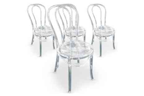 Groupon Goods Global GmbH - Four Talisman Plexi Chairs With Free Delivery - Save 0%