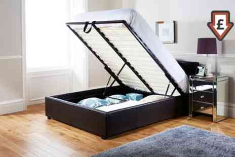 Groupon Goods Global GmbH - End Lift Ottoman Storage Bedframe With Free Delivery - Save 56%