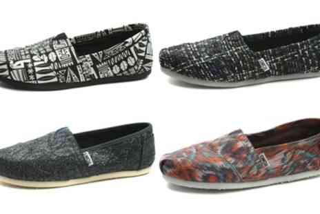 Groupon Goods Global GmbH - Womens TOMS Espadrille Flats in Choice of Style and Colour - Save 0%