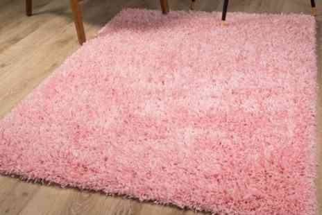 Groupon Goods Global GmbH - Vancouver Shaggy Rug in Choice of Size and Colour - Save 37%