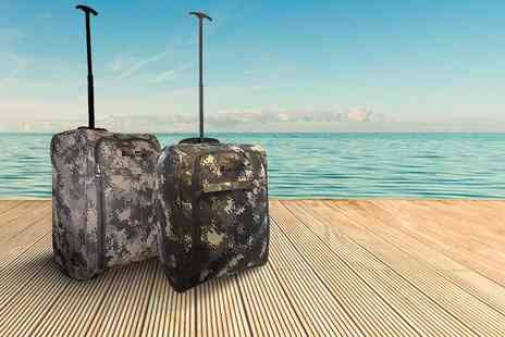 Pearl Info - Cabin approved camouflage print luggage - Save 81%