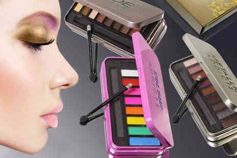 Ckent - Saffron London eye shadow palette available in nude, metallic and multi colour shades - Save 60%
