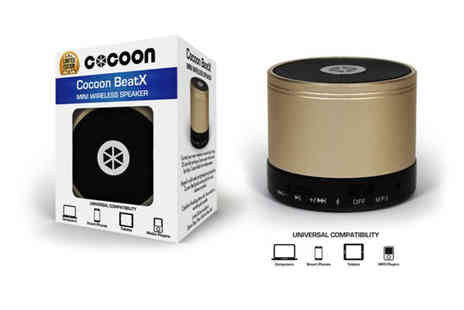 Ckent - Cocoon beatx mini bluetooth speaker rocking in gold, silver, space grey & rose gold - Save 50%
