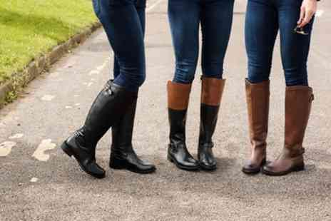 Groupon Goods Global GmbH - Womens Leather Riding Style Boots - Save 75%