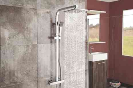 Groupon Goods Global GmbH - Square and Slimline Thermostatic Showers With Free Delivery - Save 70%