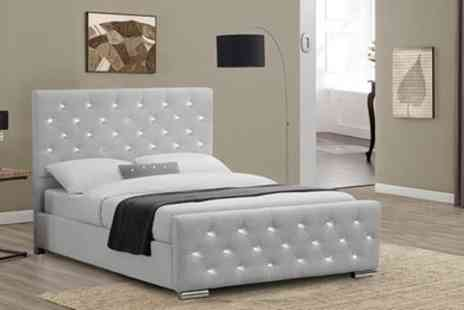 Groupon Goods Global GmbH - Beaumont Bed Frame with Optional Orthopaedic Mattress Include Free Delivery - Save 40%