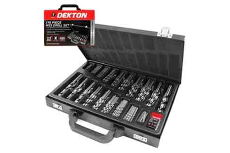 Groupon Goods Global GmbH - 170 Piece Drill Bit Set in Metal Case - Save 43%