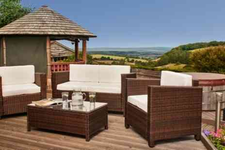 Groupon Goods Global GmbH - Tuscany Rattan Effect Garden Furniture Set with Free Delivery - Save 67%