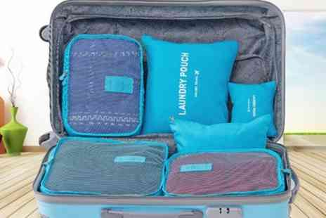 Groupon Goods Global GmbH - Six Piece Travel Organiser Set - Save 68%