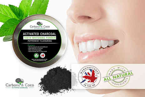 Tonk Stuff  - 30ml tub of Carbone & Coco charcoal teeth whitening powder - Save 83%