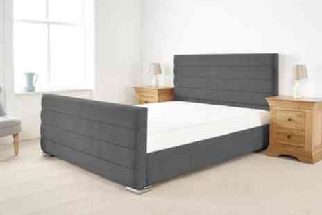 Groupon Goods Global GmbH - Keira Handmade Fabric Bed with Optional Mattress Include Free Delivery - Save 61%