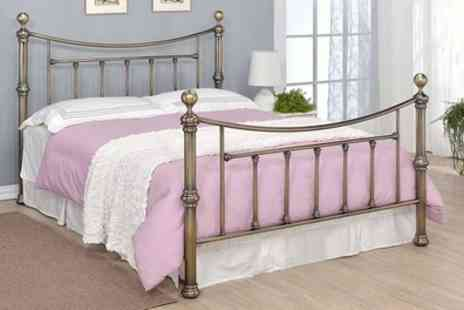Groupon Goods Global GmbH - Stratford Brass Bed With Free Delivery - Save 40%
