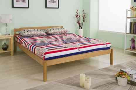 Groupon Goods Global GmbH - Double Solid Pine Wood Bed Frame With Free Delivery - Save 0%
