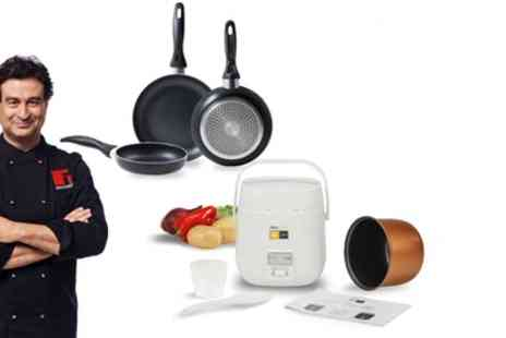 Groupon Goods Global GmbH - 1.2L Kitchen Robot Newcook Joy and Three Frying Pans - Save 77%