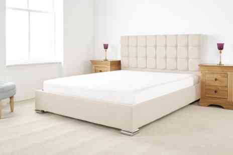 Groupon Goods Global GmbH - Thames Textured Linen Bed Frame with Optional Mattress Include Free Delivery - Save 55%
