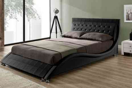Groupon Goods Global GmbH - Andorra Bed Frame with Mattress Include Free Delivery - Save 43%