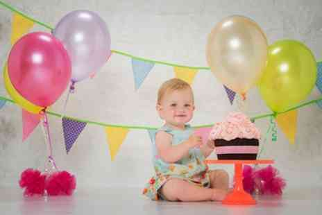 Made Portraits - Baby Cake Smash Photoshoot with Five Prints - Save 95%