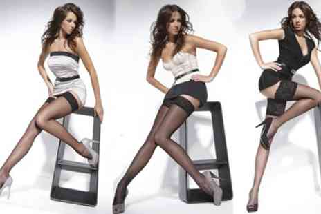 Groupon Goods Global GmbH - Two or Three Pairs of Semi Sheer Stockings - Save 70%