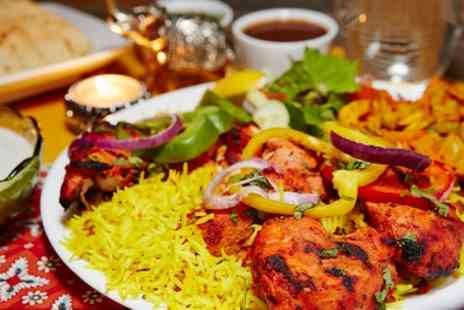 Jewel In The Crown - Three Course Meal with Sides and Rice or Naan For Two or Four - Save 61%