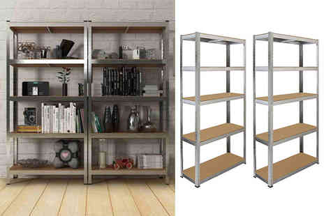 Monster Group UK - 75cm Galwix steel shelf or two pack of 90cm shelves - Save 82%