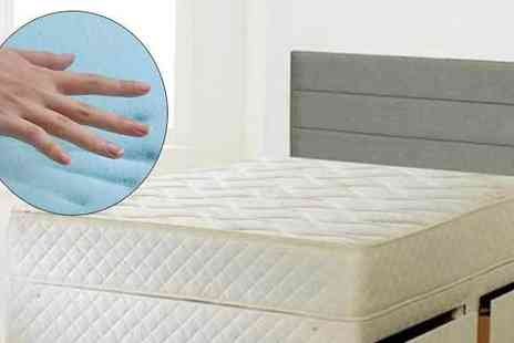 The Sleep People - Quilted Cool Blue Memory Foam Mattress in 5 Sizes - Save 85%