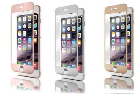 Groupon Goods Global GmbH - QDOS Tempered Glass with Colour Matching Frame for iPhone 6s/6 or 6s/6 Plus - Save 80%