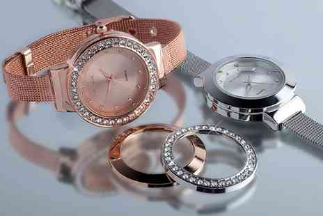 Neverland Sales - Interchangeable Bezel Watch Made with Crystals From Swarovski Include Free Delivery - Save 74%
