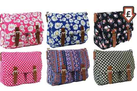 Groupon Goods Global GmbH - Canvas Satchel in Choice of Design - Save 77%