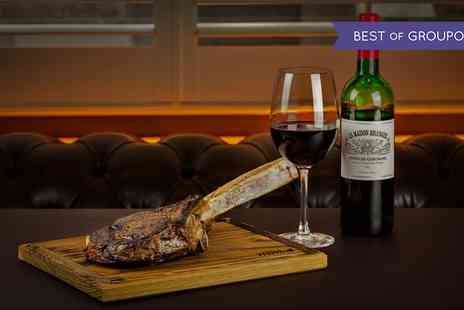 McQueen - Tomahawk Steak with Sides, Sauces and Bottle of Wine to Share for Two - Save 56%