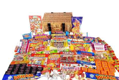 Gift Mountain - Monster wicker retro sweet hamper - Save 64%