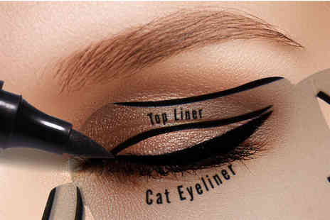 Heads Group - Two eyeliner stencil tools - Save 88%