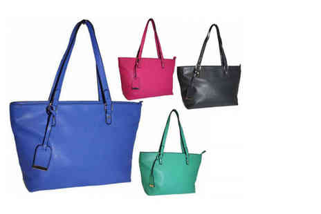 Pearl Info - Shoulder bag choose from blue, black, emerald and pink - Save 71%