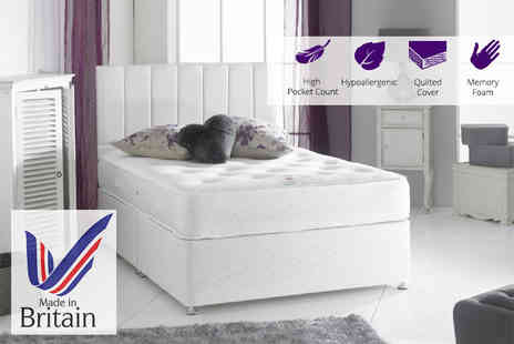 Sleep Express - Luxury 3000 pocket sprung memory foam mattress choose from five sizes - Save 81%
