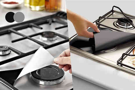Kequ World - Four or Eight universal gas hob protector sheets - Save 74%